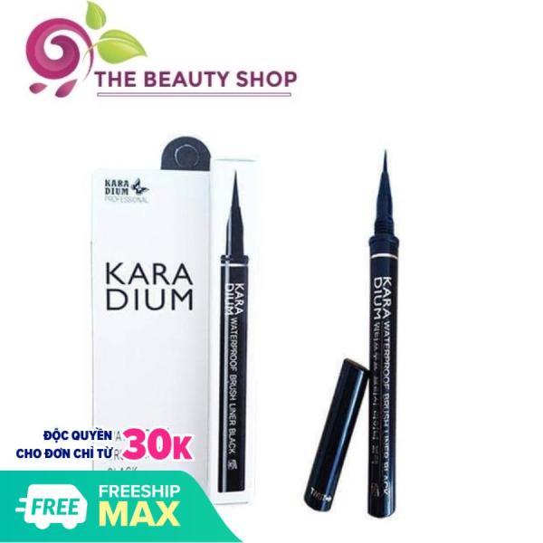 Bút kẻ mắt Karadium Waterproof Brush Liner Black - VỈ TRẮNG