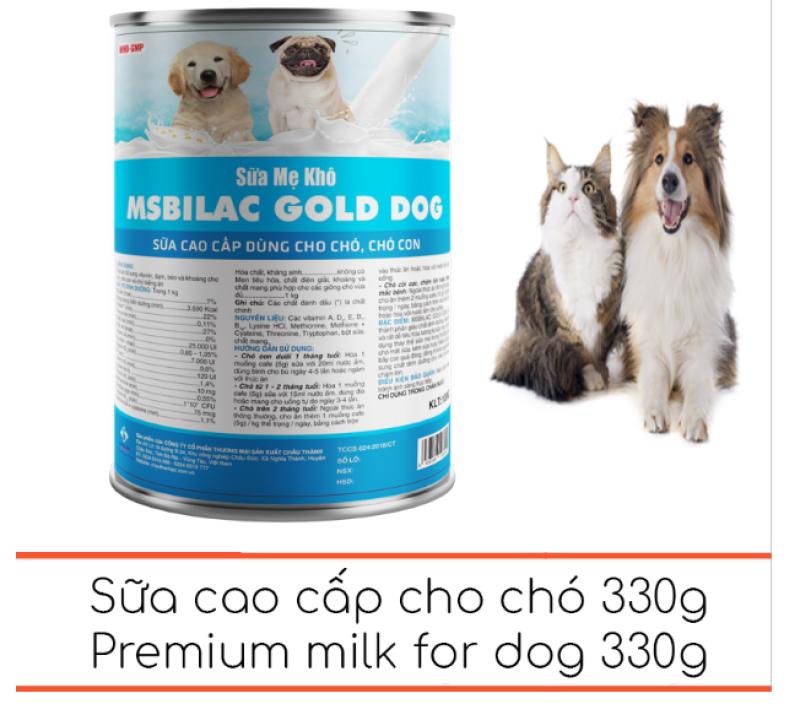 Sữa cho chó cao cấp Msbilac Gold Dog 330g