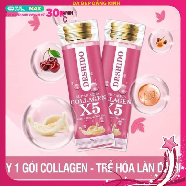 COLLAGEN X5 SUPER AQUA DR SHIDO-Nước Collagen X5 Yến Sào Nhật Bản cao cấp
