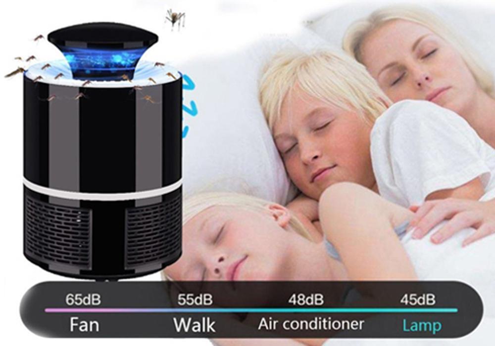 Đèn ngủ thông minh bắt muỗi cắm cổng USB  Led 360 độ