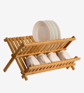 Kệ đựng chén dĩa bằng tre xếp gọn - Chống thấm nước, chống ẩm mốc - Wooden Studio thumbnail