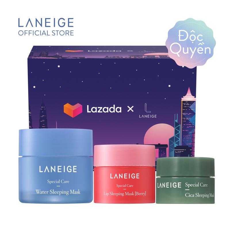 [MỚI] Bộ sản phẩm mặt nạ dưỡng ẩm cho da Laneige Water Sleeping Mask Trial Set