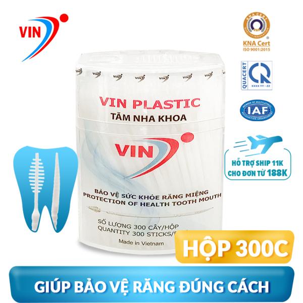 Tăm nhựa nha khoa CHÍNH HÃNG VINON (Hộp 300 tăm). Tiêu chuẩn: ISO 9001-2015 và QCVN 12-1:2011/BYT