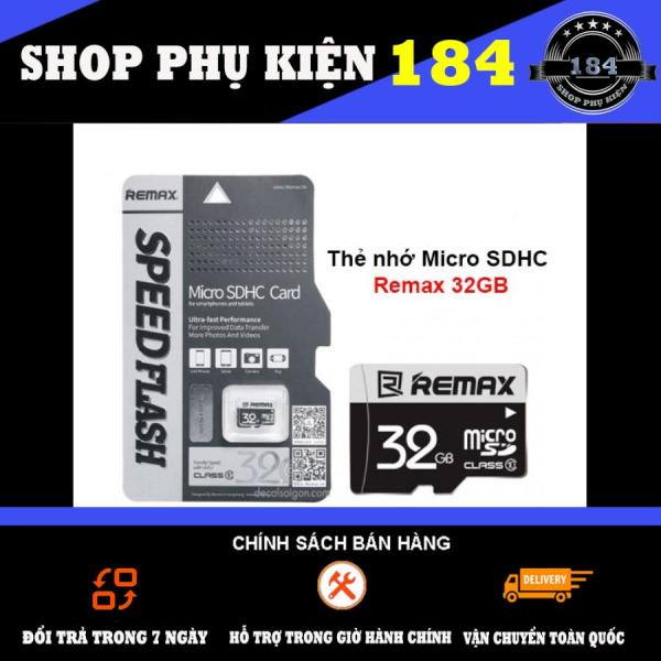 Thẻ Nhớ Micro Sdhc Remax 32Gb Class 10 Chuyên Dụng Cho Điện Thoại Và Camera Ip