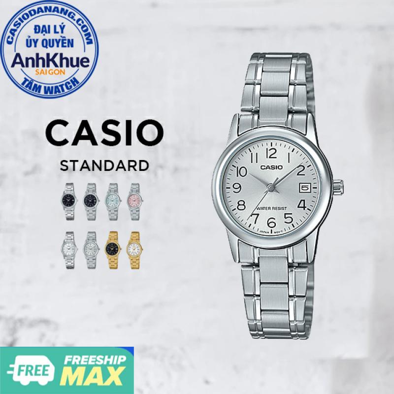 Đồng hồ nữ dây kim loại Casio Standard chính hãng Anh Khuê LTP-V002 Series (25mm)