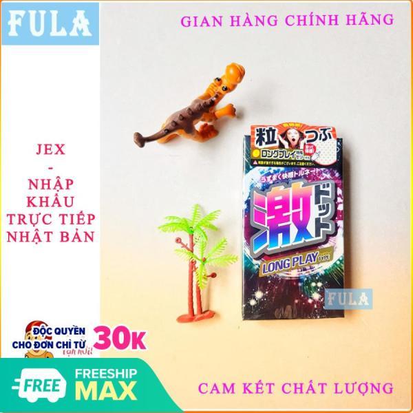 [HÀNG CAO CẤP] Bao cao su Jex Long Play Type Nhật Bản (hộp 8 chiếc) siêu gel kéo dài thời gian quan hệ, chống xuất tinh sớm. Fula