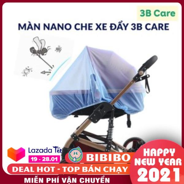 Màn, mùng che xe đẩy 3BCare, Màn ngủ lưới xe đẩy em bé chống muỗi, chống bụi bẩn