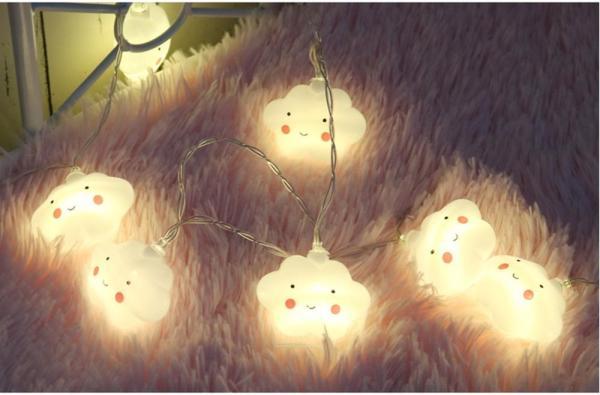 Bộ 2 Dây led nháy Nhiều màu hình Mặt cười  - 4m - 16 bóng KamiHome
