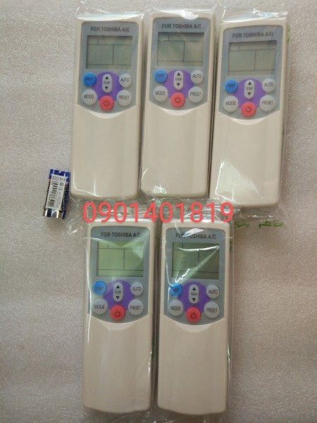Bảng giá Điều khiển Máy Lạnh Toshiba(Bật nắp nút hồng)