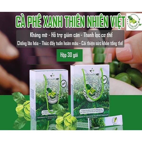 Cà Phê Xanh Kháng Mỡ - Thiên Nhiên Việt (hộp 10 gói)