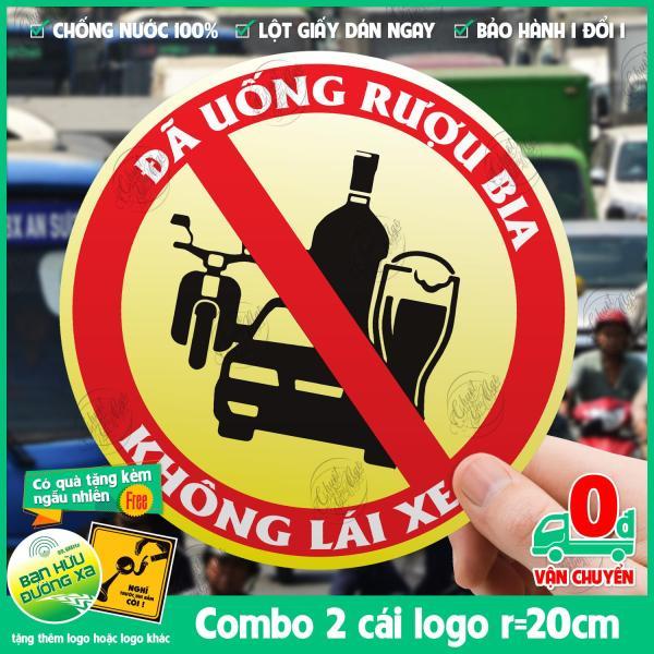 [HCM]Combo 2 logo đường kính 20cm Đã Uống Ruọu Bia Không Lái Xe dán ôtô