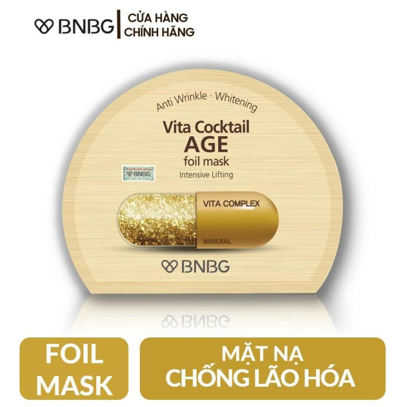 Mặt nạ thiếc BNBG Vita Cocktail Age Foil Mask (Hộp 10 miếng) nhập khẩu