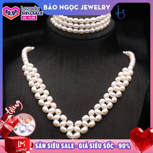 Bộ vòng ngọc trai 2 món nữ hoàng thời trang Bộ Queen Pearl - Bảo Ngọc Jewelry