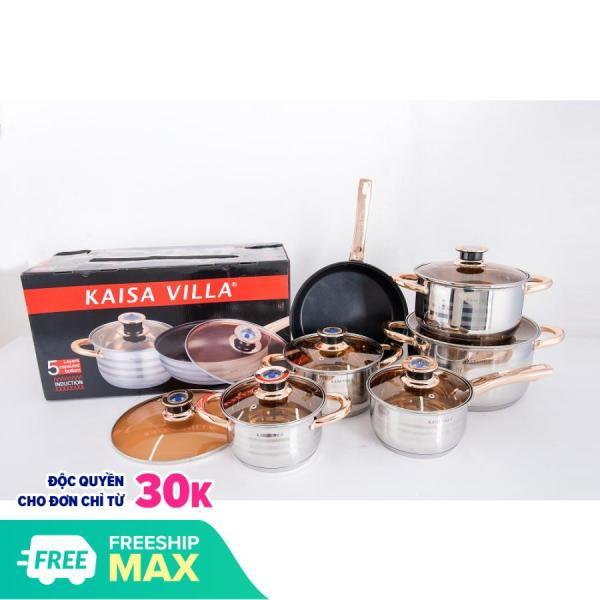 Bộ nồi Đức Kaisa Villa 6 món 12 chi tiết ( thích hợp cho mọi loại bếp)