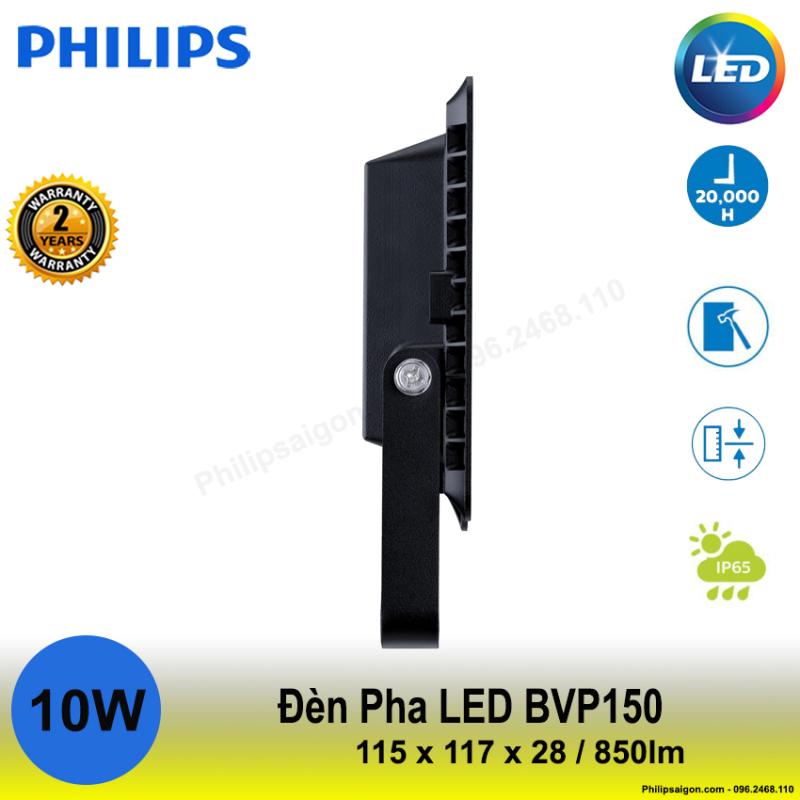 Đèn pha Philips Led BVP 150 10W / 20W / 30W / 50W / 70W ánh sáng Trắng / vàng / hoặc trung tính, Độ kín IP65, Vỏ nhôm đúc chắc chắn, mỏng gọn Driver tích hợp - 24 tháng bảo hành - PhilipSaigon