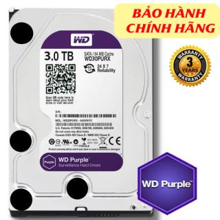 Western Purple 3TB dòng ổ cứng chuyên dụng cho camera, ghi hình liên tục 24 7 (chính hãng) thumbnail
