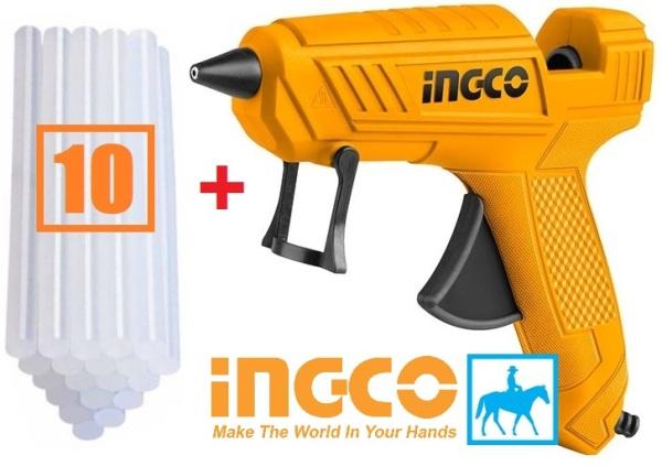 Dụng cụ bơm keo điện 100w INGCO GG148 Tặng 10 cây keo