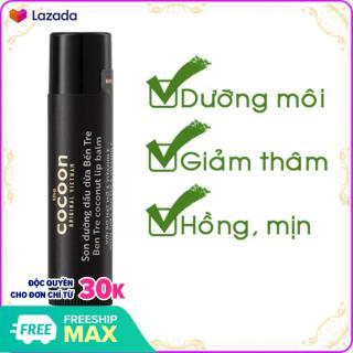Son Dưỡng Môi Cocoon Dầu Dừa Bến Tre 5g giảm thâm môi, dưỡng môi mịn màng thumbnail