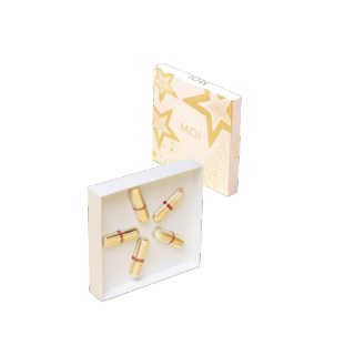 Set 5 Son Thỏi Mini Golden Gift Son Hồ Ngọc Hà Mỹ Phẩm MOI Bền Màu - Lâu Trôi - Chống Lão Hóa - Mềm Mượt - Hương Cookie Mini tiện dung thumbnail