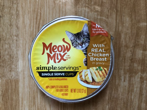 Meow Mix Simple Servings With Real Chicken Breast In Gravy