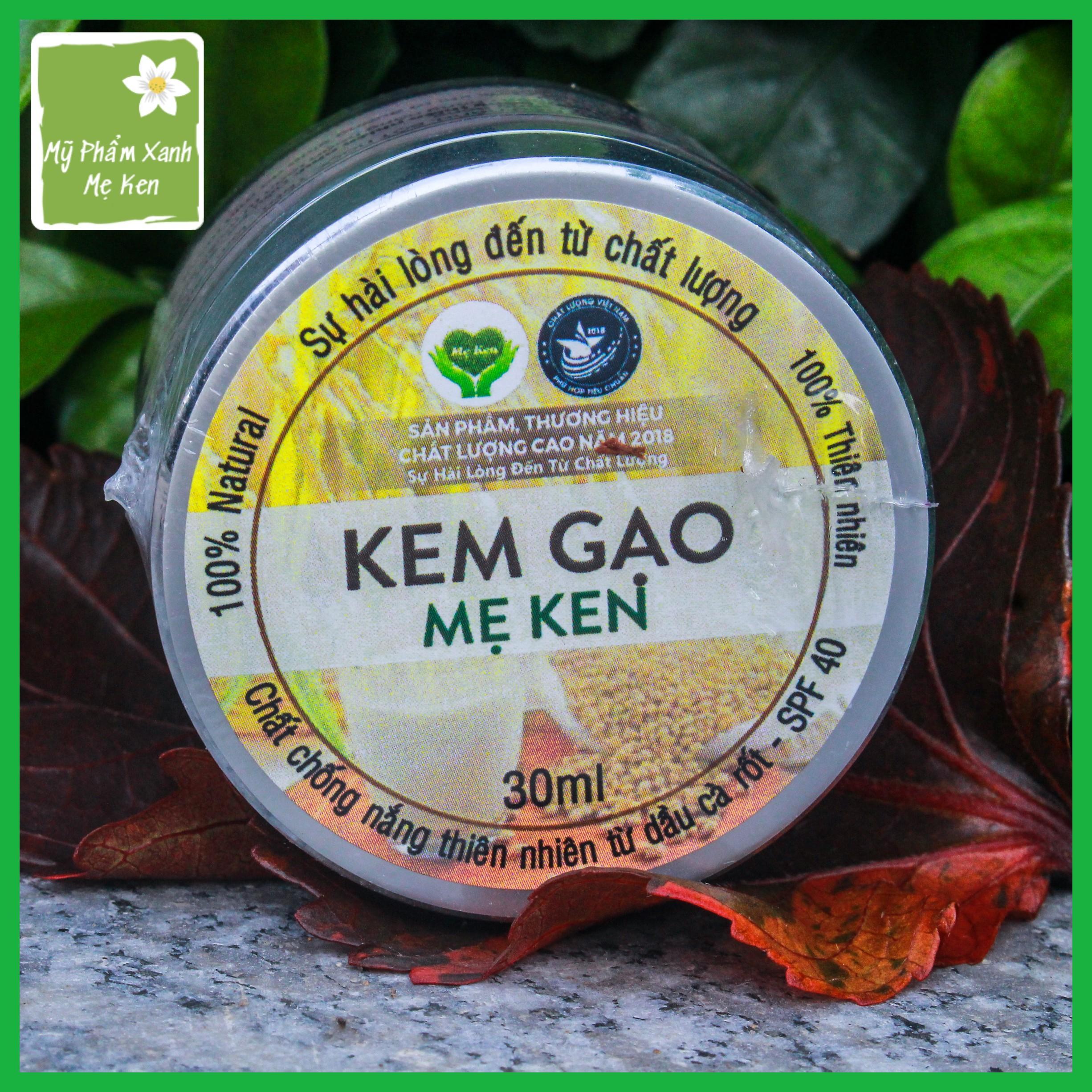 Kem gạo Mẹ Ken Làm kem nền  trang điểm, kem chống nắng chỉ số SPF 40, dưỡng trắng da, giúp che khuyết điểm nhẹ, chống lão hóa da – 30ml