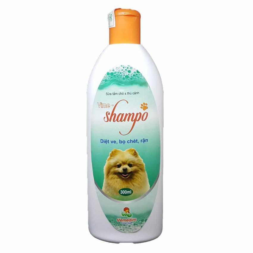Sữa Tắm Chuyên Phòng Diệt Ve Rận Bọ Chét Cho Chó Mèo Và Thú Cảnh Vime Shampo 300ml Đang Ưu Đãi