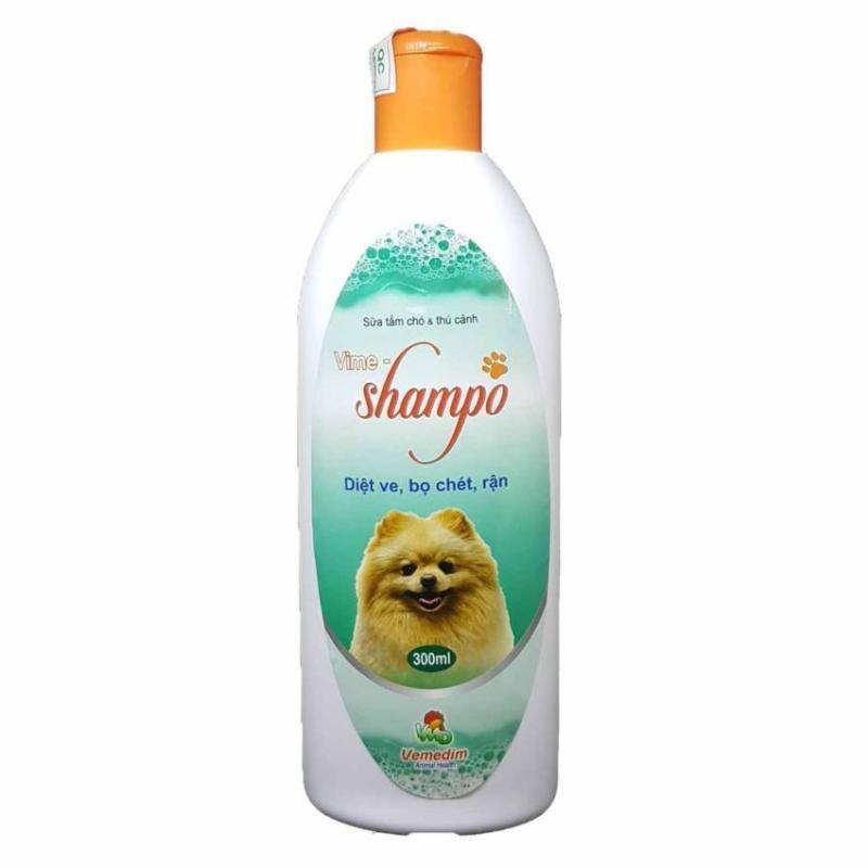 Sữa Tắm Chuyên Phòng Diệt Ve Rận Bọ Chét Cho Chó Mèo Và Thú Cảnh Vime Shampo 300ml