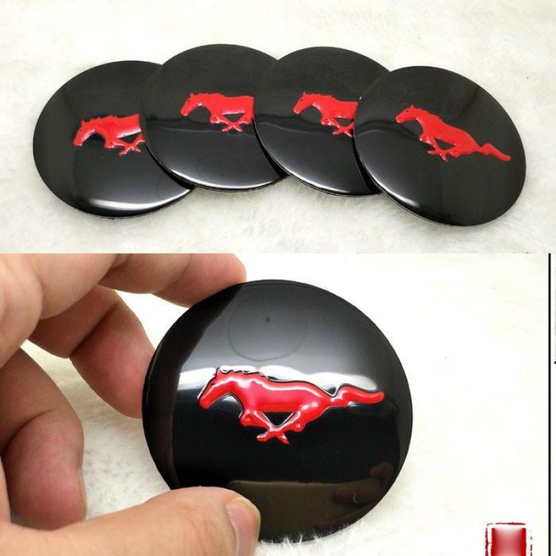 Bộ 4 logo ốp lazang ô tô các loại xe 56mm Mustang