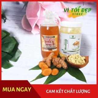 Tinh bột nghệ viên mật ong rừng mẹ ken 500 gr ( 1Kg 2 Hủ) thumbnail