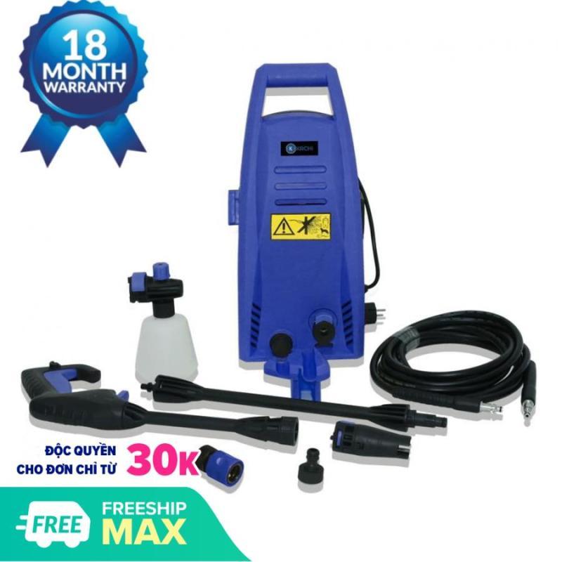Máy xịt rửa xe cao áp Kachi MK192 1200W, áp lực nước mạnh, vệ sinh sàn nhà, rửa xe