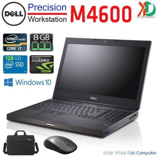 [Trả góp 0%]Laptop máy trạm DELL Precision M4600 Core i7-2720QM8gb Ram 128gb SSD Quadro 1000M màn 15.6inch Full HD  chuyên đồ họa 3D và game