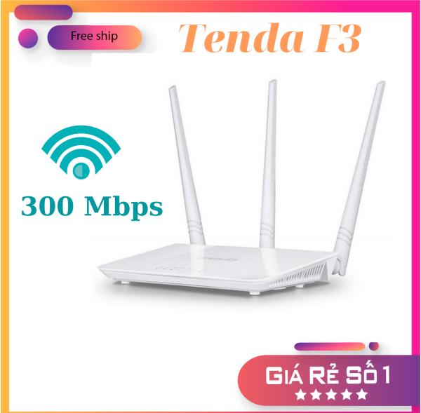 Bộ phát Wifi 3 râu Tenda F3 không dây chuẩn tốc độ 300 Mbps, Cục kích sóng Wifi, Cục Hút Sóng Wifi,