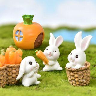 Phụ kiện trang trí tiểu cảnh, Terrarium Thỏ con tinh nghịch thumbnail