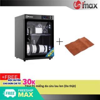 Tủ chống ẩm Nikatei NC-30S BLACK (30 lít) + Da cừu lau len ( Da thật) thumbnail