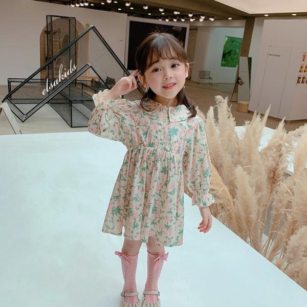 Giá bán Váy thu vintage dài tay siêu xinh cho bé - VBG-vintage