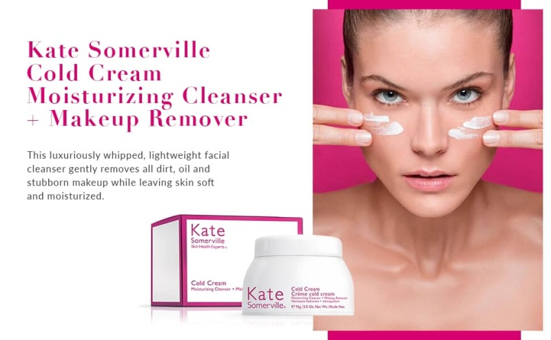 [chính hãng] 95g - Kem tẩy trang&rửa mặt Kate Somerville Cold Cream nhập khẩu