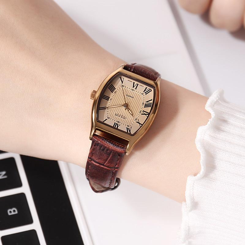 Đồng hồ nữ JA-703L Julius Hàn Quốc mặt oval (Nhiều màu)