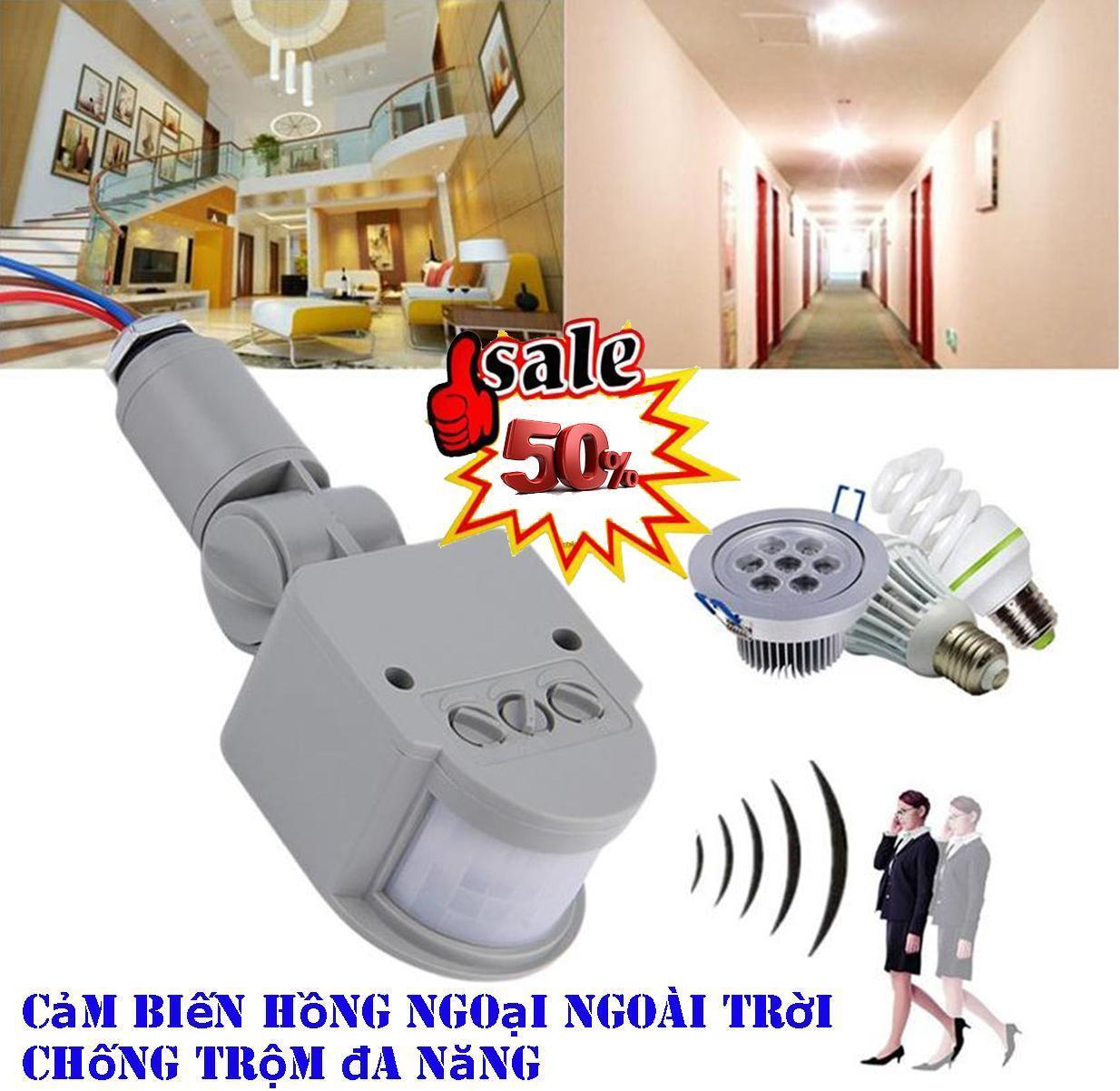 Chuông Báo Động Chống Trộm, Cách đấu bóng đèn cầu thang, đèn led cảm ứng chuyển động - Cảm biến tự động tắt bật khi có người. Mua Ngay HÔM NAY tiết kiệm đến 50%