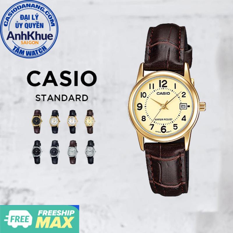 Đồng hồ nữ dây da Casio Standard chính hãng Anh Khuê LTP-V002 Series (25mm)