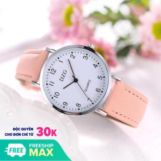 Đồng hồ thời tranh nữ DZG dây da nhung tuyệt đẹp MS855 thumbnail