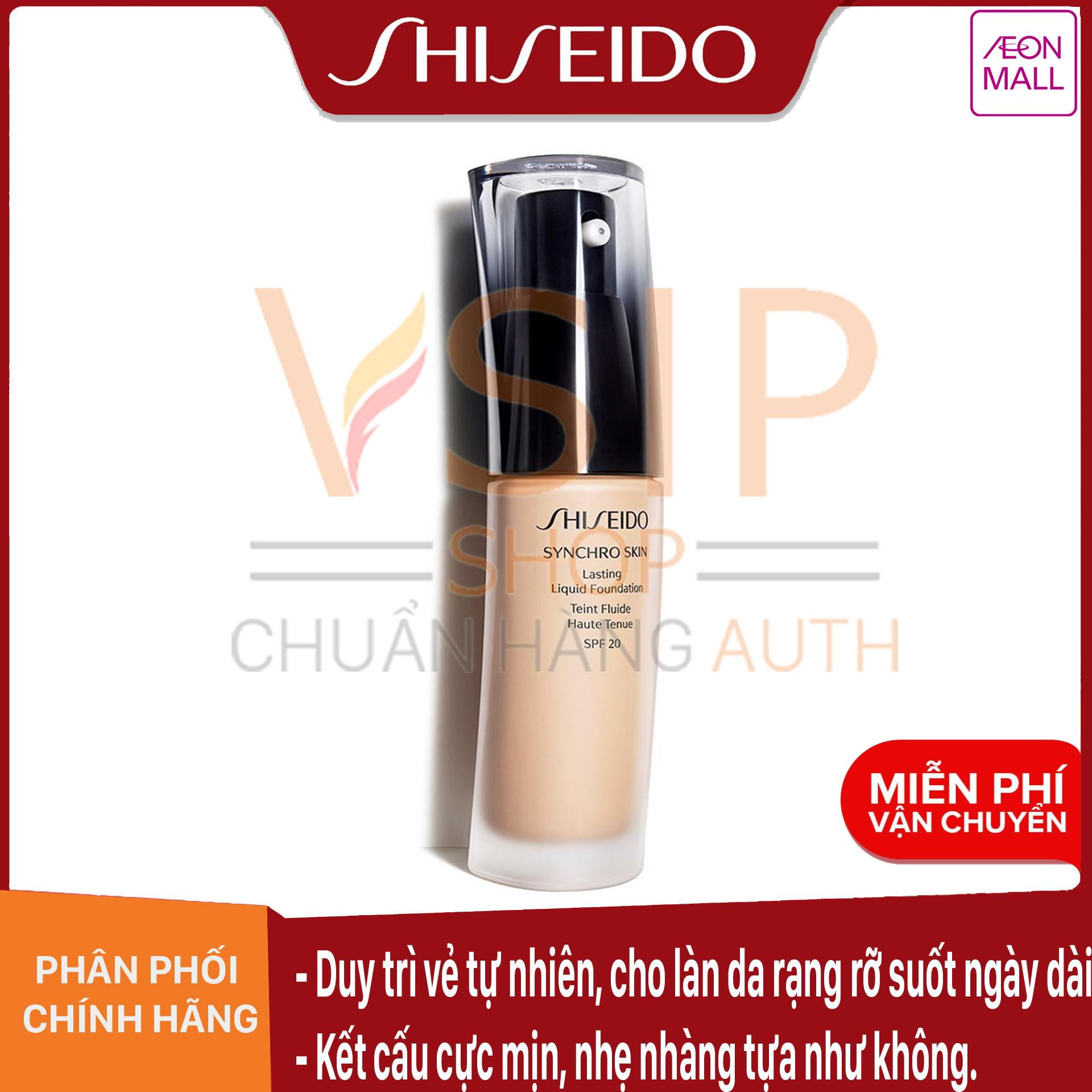 Voucher Khuyến Mãi Phấn Nền Thông Minh Shiseido Synchro Skin Lasting Liquid Foundation SPF 20 30ml