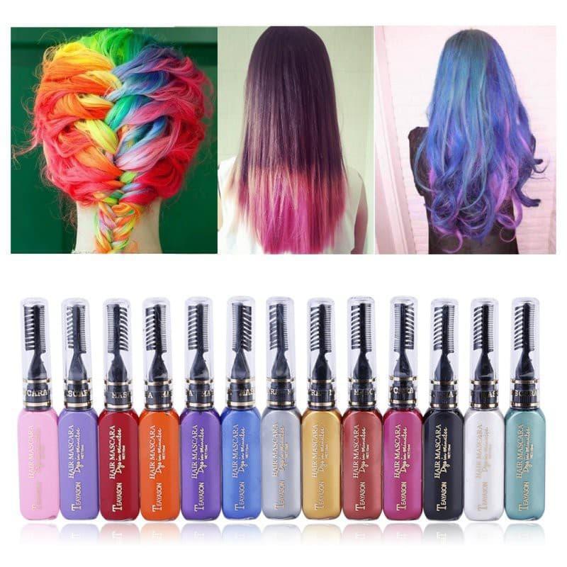 Line tóc Màu (dạng chải) màu nhuộm line tạm thời cao cấp