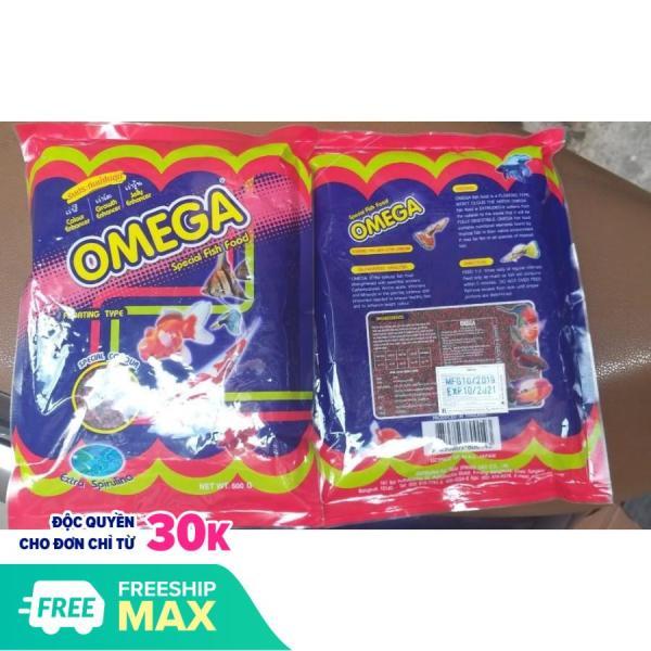 Thức Ăn Cá Omega xuất xứ Nhật Bản, sản xuất tại Thái Lan SIZE HẠT 3MM cho cá cảnh, GÓI 500G