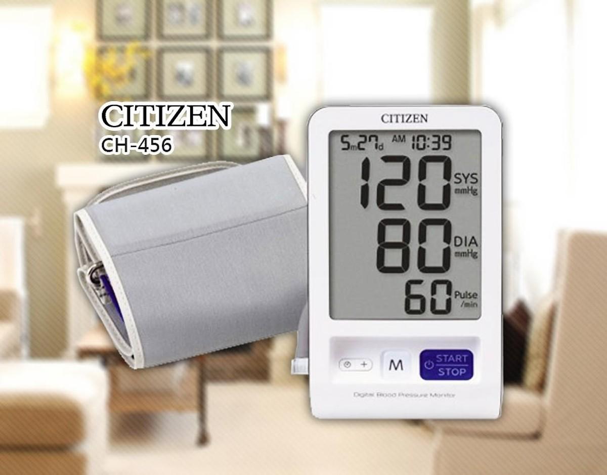 Máy đo huyết áp điện tử bắp tay Citizen CH-456 - Bảo hành 36 tháng nhập khẩu