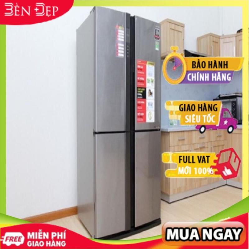 Tủ lạnh Sharp Inverter 626 lít SJ-FX630V-ST, hệ thống làm lạnh kép, khử mùi Nano (Miễn phí giao tại HN-ngoài tỉnh liên hệ shop)