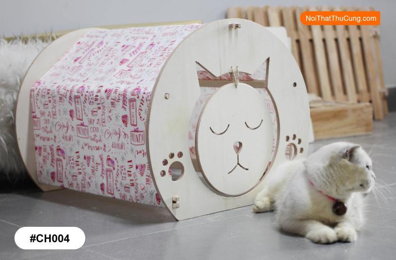 Lều Gỗ Cho Mèo Cực Kì Xinh Xắn CH004
