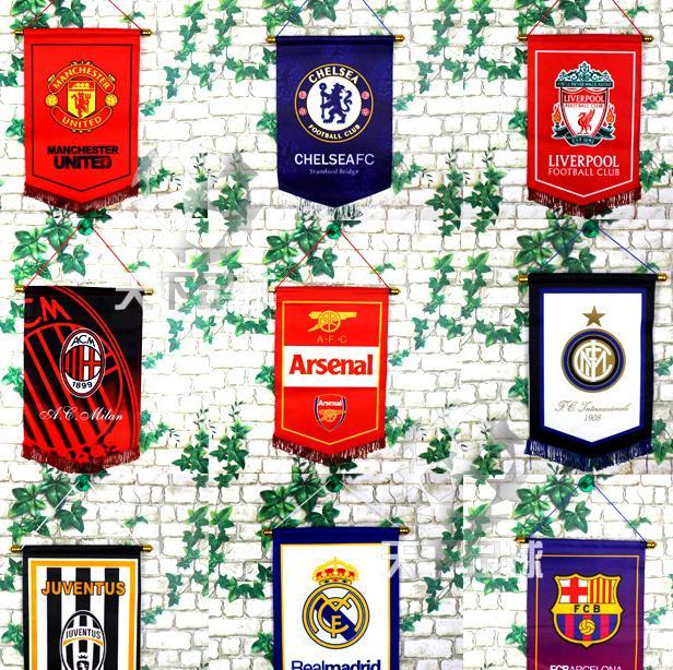 Cờ Treo Tường Arsenal, Manchester United, CHelsea, Liverpool, Real Madrid, Barcelona Giá Tốt Không Thể Bỏ Qua