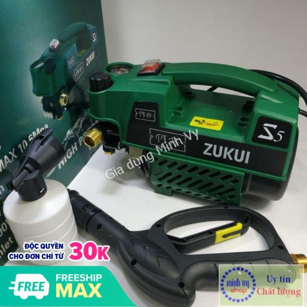 Máy rửa xe Zukui S5 -Osaka ZJ - 2400W-BH 12 tháng-chỉnh áp lực-tặng kèm bình xà phòng - màu xanh