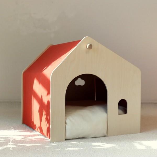 Nhà gỗ cho thú cưng - Biệt thự chó mèo