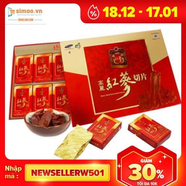 ?? ⚡ SẢN PHẨM CHÍNH HÃNG Hồng Sâm thái lát tẩm Mật Ong SAMBOK Hàn Quốc hộp 200g (Honey Sliced Korean Red Ginseng) ?? ⚡ nhập khẩu